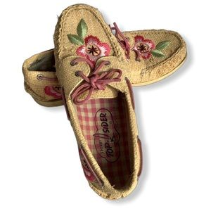 Sperry Top-Sider Rattan Embroidered Size 8M
